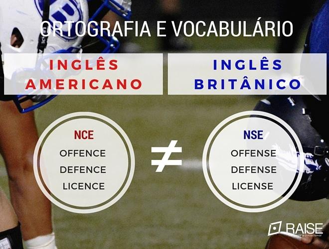 diferenca entre ingles britanico e americano ortografia e palavras nce nse