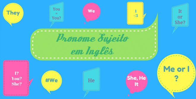 pronomes sujeitos em inglês