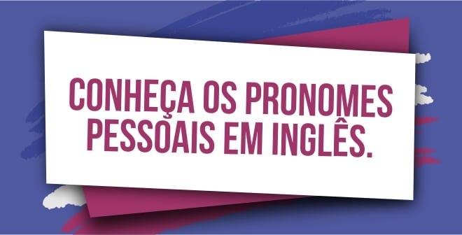 Pronomes pessoais em ingles capa