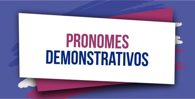 pronomes demonstrativos em ingles capa